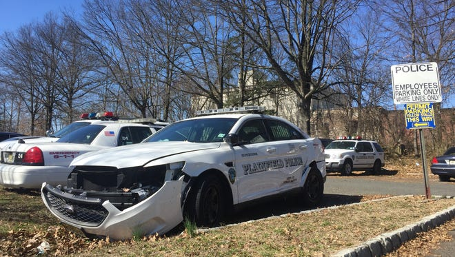 A damaged police cruiser in Plainfield. MyCentralJersey.com has examined the costs associated with accidents involving public employees over the past five years for five cities or municipalities.