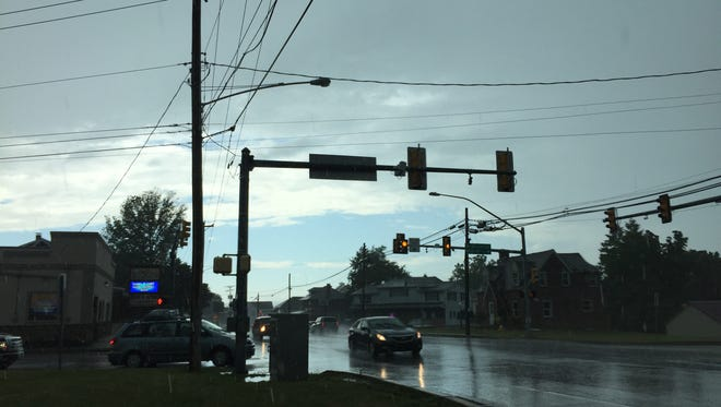 Blue skies peek through after storms rolled through York County on Saturday.