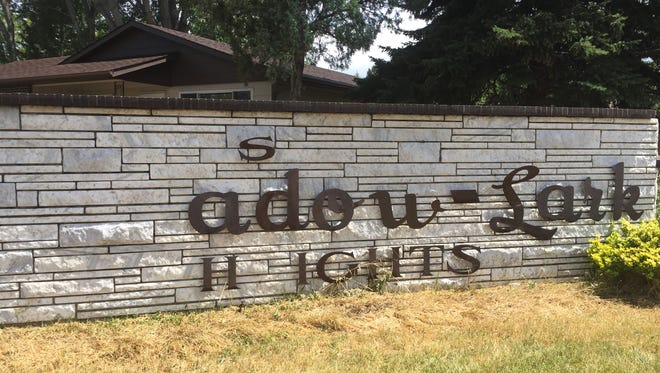 A project to repair an entrance sign to the Meadowlark Neighborhood could be included in a proposal to the city's new Vibrant Neighborhoods Grants program.