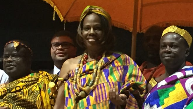 Myrtle Deanna Choice was named Queen Mother of Agyanoa Aburi, Ghana, at a coronation installment ceremony Saturday at Newark High School.