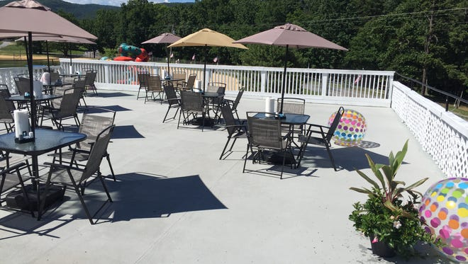 The new rooftop dining spot at Shenandoah Acres called the Acres Eatery Upper Deck.