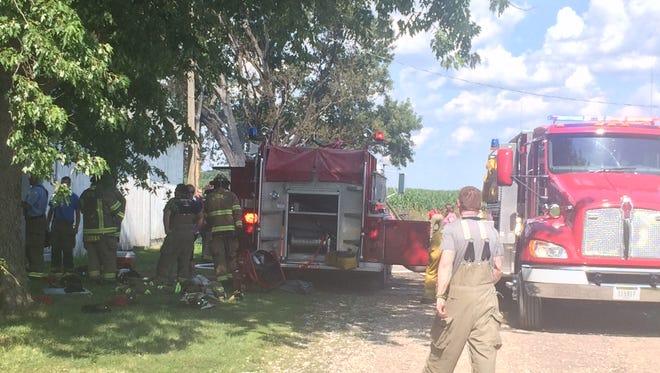 A shed fire at 1146 U Ave. near Boone.