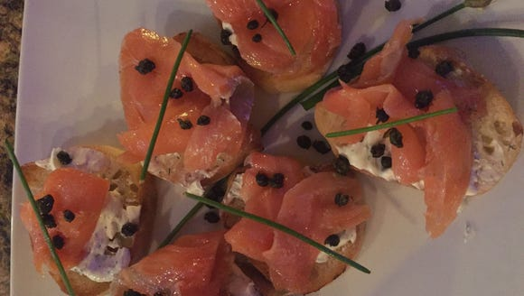 The Market's gravlax bruschetta.