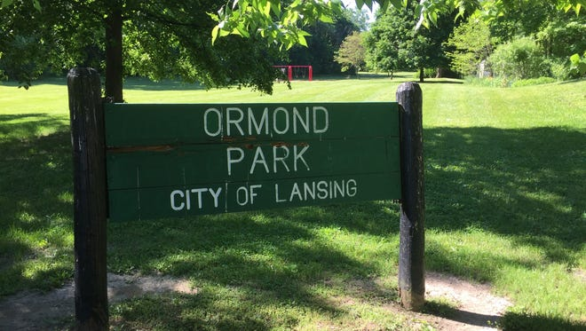 A sign outside Ormond Park in Lansing appears in a Lansing State Journal file photo.