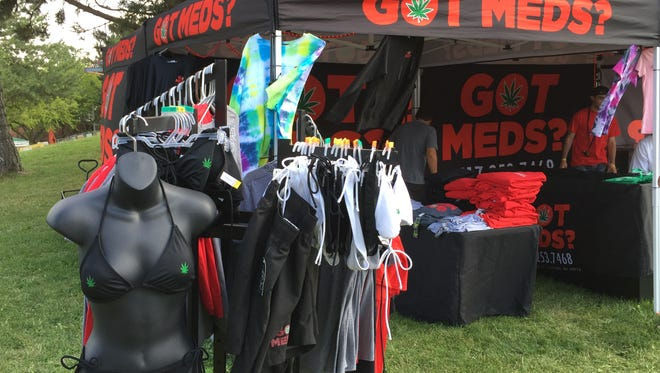 Got Meds, a Lansing marijuana dispensary, has a booth at this year's Common Ground Music Festival. It doesn't sell marijuana, but does sell marijuana themed products. It also sells hemp-based oils and lotions. The festival ends Sunday.