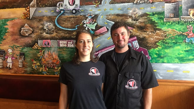 Elisabeth Cowan and Sean Parker are co-owners of Oink and Moo BBQ in Voorhees. The couple has run the Philadelphia food truck for several years.