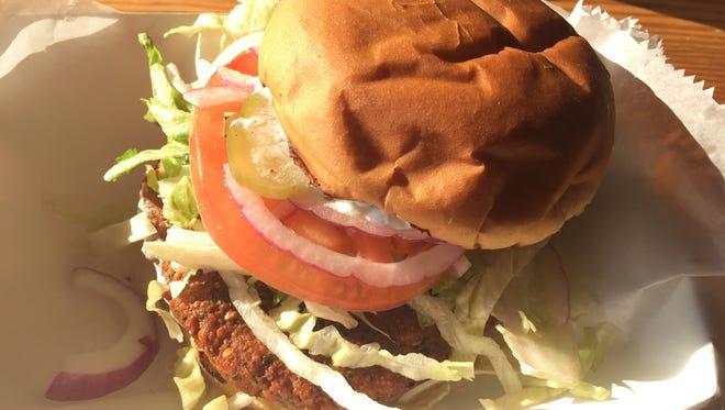 The Felafel burger at Queen City Radio.
