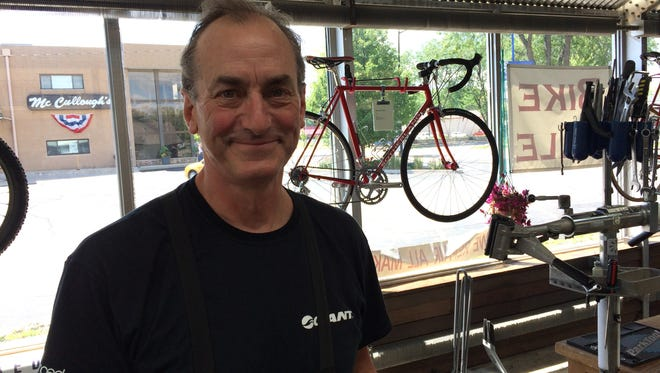 John Sotherland, co-owner of BicycleWise & Sports Fitness in Whitewater and Wisconsin cycling royalty.