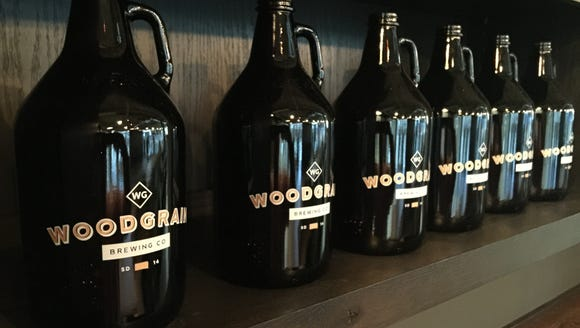 Growlers at Woodgrain Brewing Co.