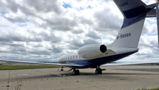A private jet believed to be connected to Foxconn Technology Group was at Mitchell International Airport on July 10.