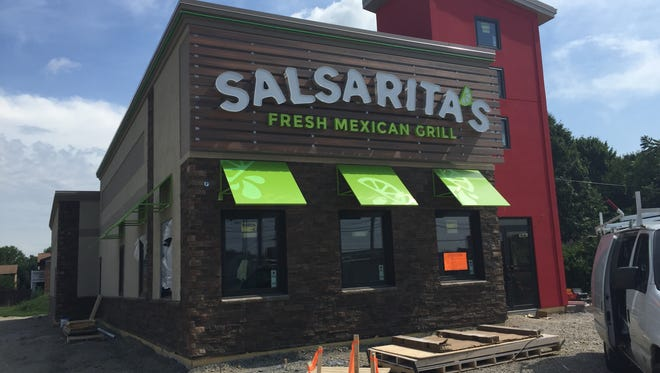 Salsarita's on East Morgan Avenue is nearing completion.