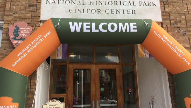 Entrance to the Women's Rights National Historical Park in Seneca Falls.