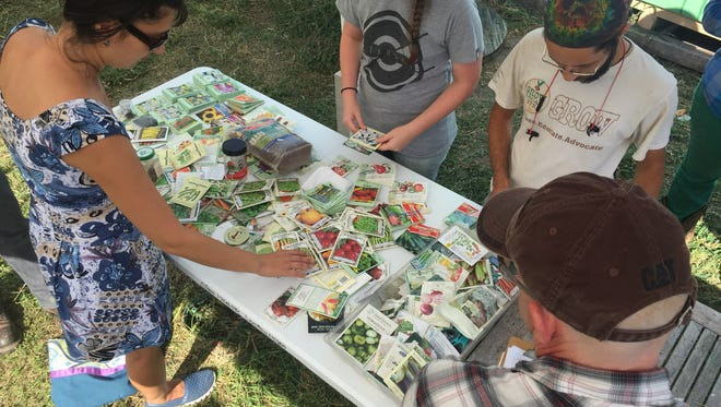 Grow Local South Texas invited gardeners to come and swap seeds at the Learning Garden Sunday, July 16, 2017.