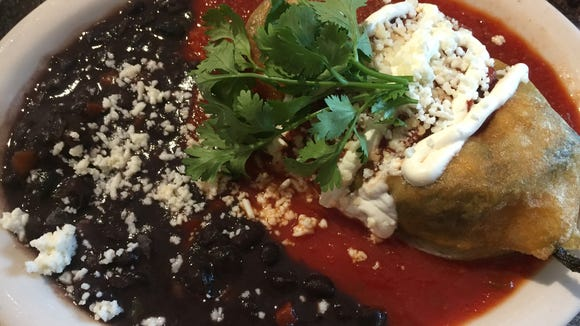 The Tortilla Press version of Chile Relleno will be featured during Fresh from the Farm Restaurant Week.  It is prepared with fresh, stuffed poblano from Flaim Farms in Vineland.