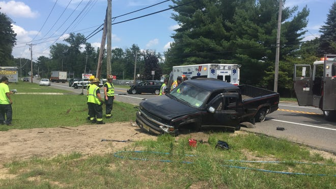 The city's Emergency Medical Service responded to the Delsea Drive crash site but no one needed transport to the hospital, officials at the scene said.