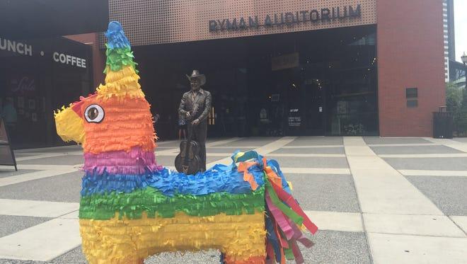 The Taco Festival Nashville piñata, Smash, takes a tour of Music City ahead of The Taco Festival - Nashville on Sept. 30, 2017.