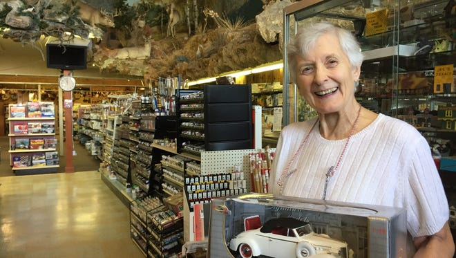 Pat Dyer, owner of Hobbyland, invites the public to a birthday and retirement celebration Aug. 31, the store's final day in business.