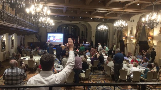 Members of the Riverside County Republican Party central committee nearly voted on July 20, 2017, to censure Assembly Republican Leader Chad Mayes for his role in extending the state's cap-and-trade policy.