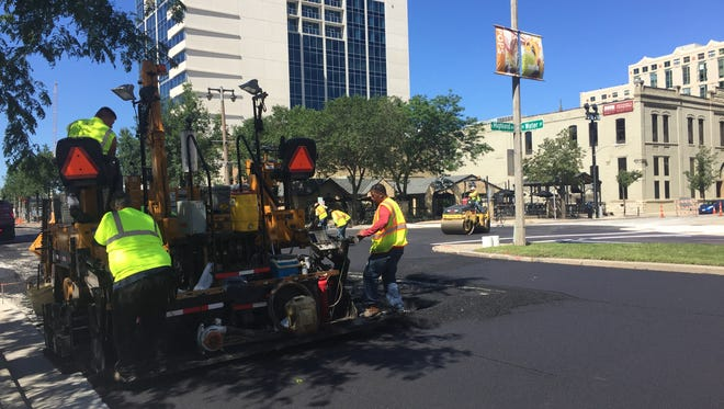 Pavement work begins on N. Water St. Monday as parts of the street in downtown Milwaukee will close this week for a paving project.