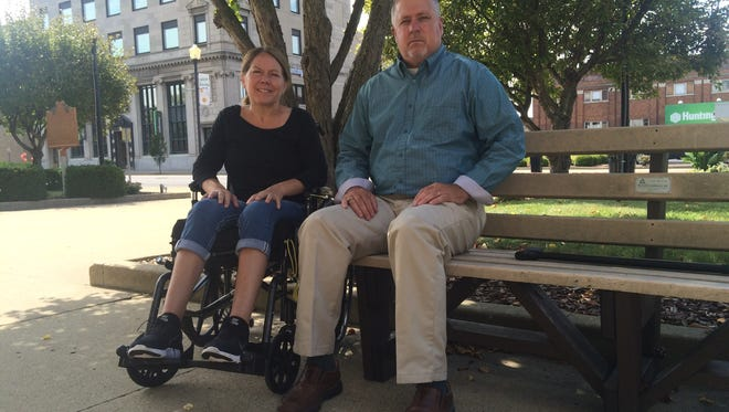 Former Muskingum County sheriff's deputy Rod Holdcroft and his wife Mollie have forgiven the woman who crashed into Holdcroft's cruiser in June 2016. Holdcroft is still recovering from the crash.