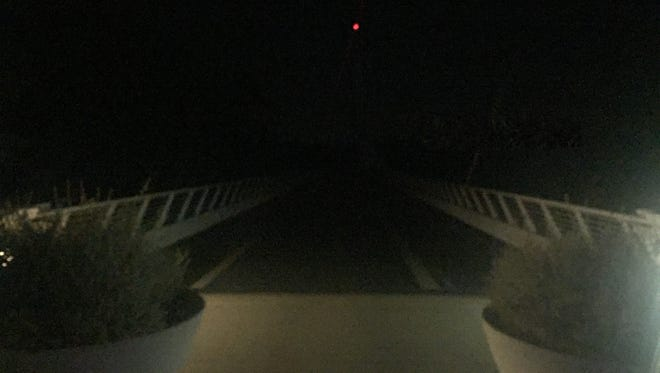 Steve Du Bois was out at the Sundial Bridge on Friday night when he noticed the bridge's lights were out.