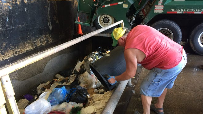 The Buncombe County Transfer Stations handles about 300 tons of garbage and recyclables every day.