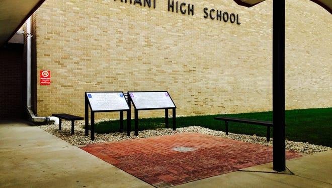 A Liberty-Perry Schools Alumni Engraved Brick Walkway has been installed at Wapahani High School.