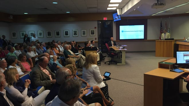 Image from inside the Naples City Council meeting on Tuesday, Aug. 15, 2017.