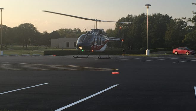 An 8-year-old girl was flown to Nationwide Children's Hospital after being struck by a vehicle Tuesday evening.