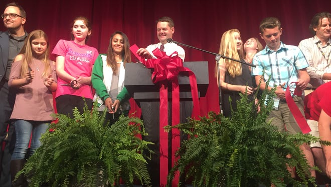 Page Middle School celebrated the completion of its new auditorium Wed. Aug. 16.