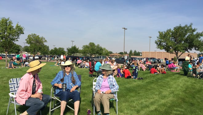 People of all ages, including some who recalled the last solar eclipse visible in Montana, gathered at Great Falls College MSU Monday.