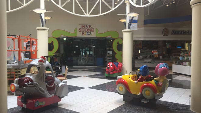 Five Stone Kids, located behind the kiddie rides at the Lebanon Valley Mall and pictured Aug. 18, provides a play area for children while their parents are shopping.
