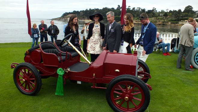 A 1909 Isotta Fraschini FENC Tipo A Factory Touring - one of only five still extant worldwide - was one of several rare racing voiturettes in competition for a class award during the 2017 Pebble Beach Concours d'Elegance held Sunday.
