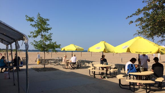 The concession stand at North Beach in Racine serves up a superlative hot dog.