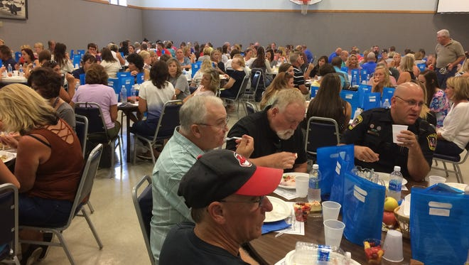 Ontario United Methodist Church recently celebrated Ontario School employees with a luncheon for more than 200 employees, including teachers, administrators, school board members, counselors, custodians, cooks and bus drivers.