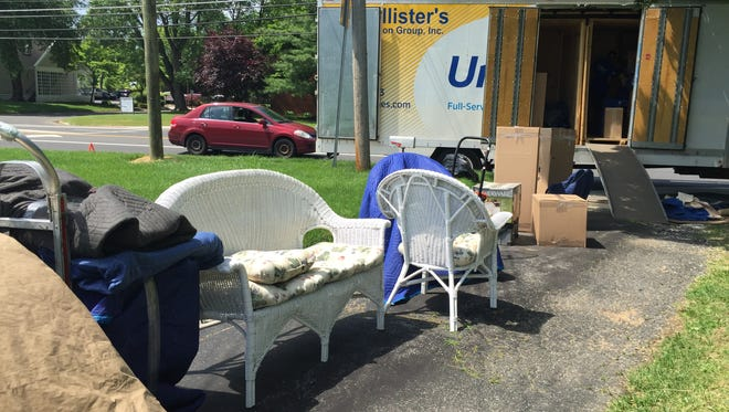 Household furnishings are ready to be loaded onto a United Van Lines truck operated by McCollister's Transportation Group in Burlington Township. The firm is moving to another location across the township with the help of an economic development loan.