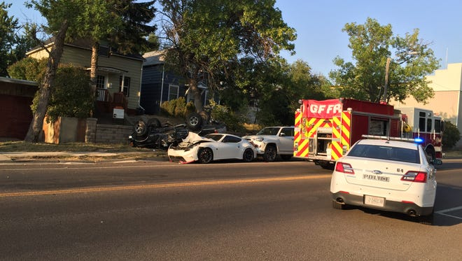 Authorities were investigating an auto accident at 9th Street and 8th Ave. North in Great Falls on Saturday evening.