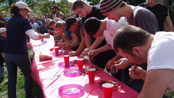 Participants will compete for bragging rights during the bacon eating contest at 5 p.m. Saturday.