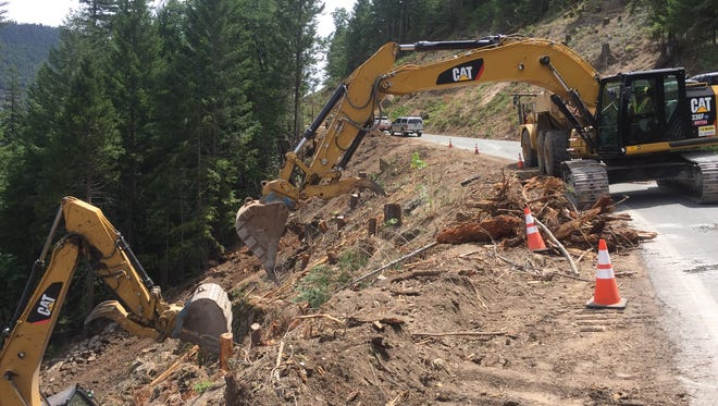 A road realignment project on Highway 36 east of Red Bluff is one of several road construction projects in the North State where motorists could see delays this Labor Day weekend.