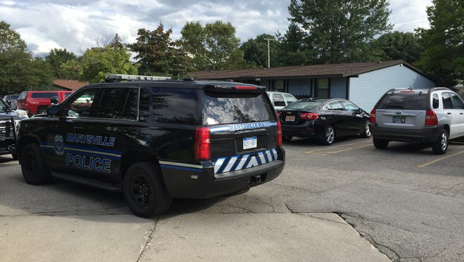 Police respond to a reported stabbing Sept. 6 at Aspen Grove Apartments in Marysville.