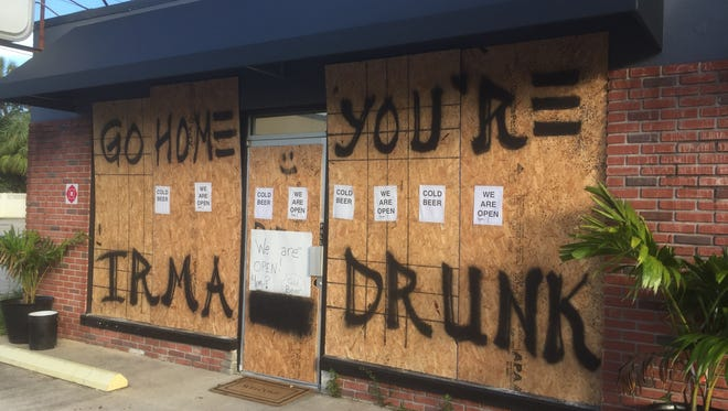 Emergency management officials caution against drinking too much alcohol during Hurricane Irma.