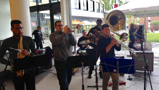 New Brunswick Brass Band, featuring students and alumni of Rutgers University's Mason Gross School of the Arts, will lend their talent to the Central Jersey Jazz Festival on Sept. 16 in downtown New Brunswick.