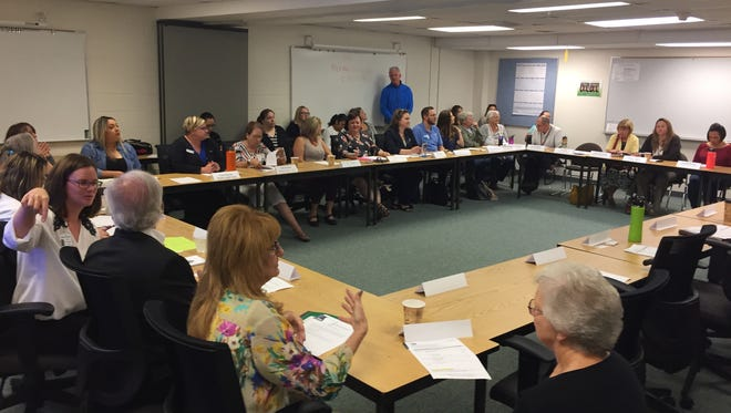 Discussing optimal methods for sharing resources: Santiam Service Integration Team held its first meeting on Thursday, Sept. 14, at the Santiam Center.