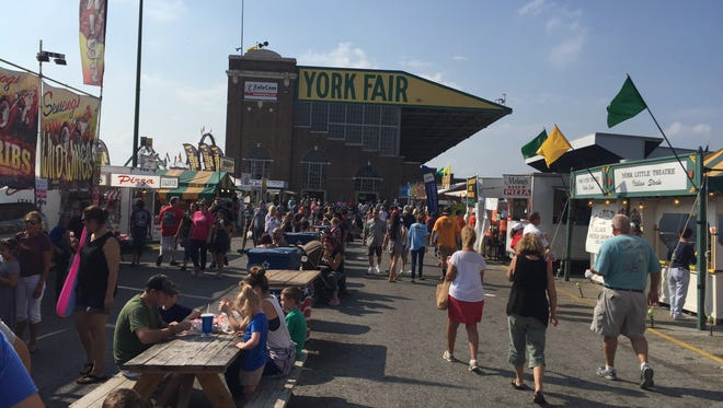 This was the crowd on Gourmet Lane on Sunday afternoon at the York Fair.