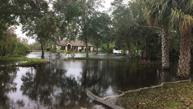 Homes on Windover Way in Titusville are still experiencing flooding after Irma.