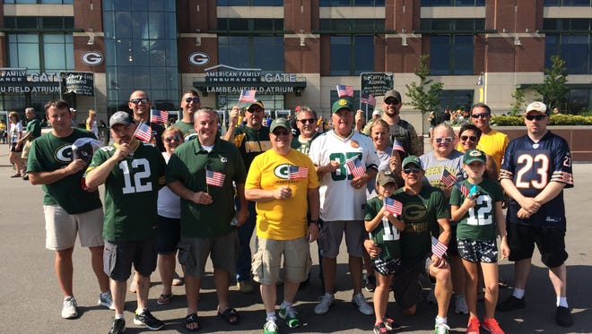 Diane Malecki and her family and friends brought American flags to the Packers game on Sept. 24 to counter protests from players.