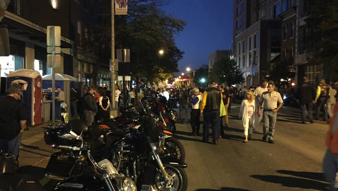 York's 23rd annual Bike Night was held on a Friday, a night that saw huge crowds also drawn to championship Revs baseball and high school football.