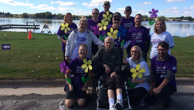 Team Klapperich from Sturgeon Bay Health Services participated in the Walk to End Alzheimer's Saturday, Sept. 30, 2017.