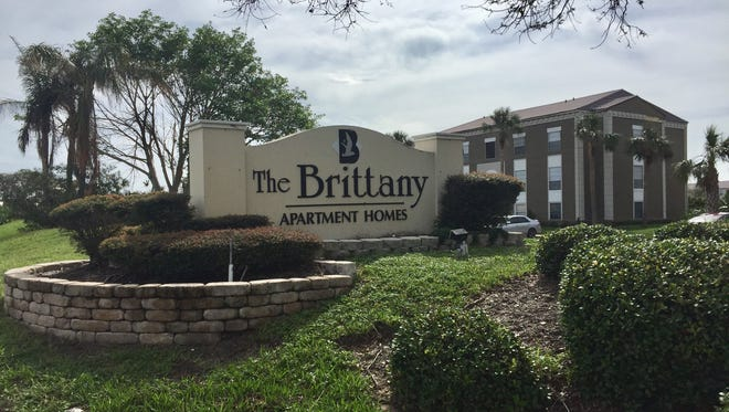The Brittany Apartment Homes are located off of Eau Gallie Boulevard in beachside Melbourne.