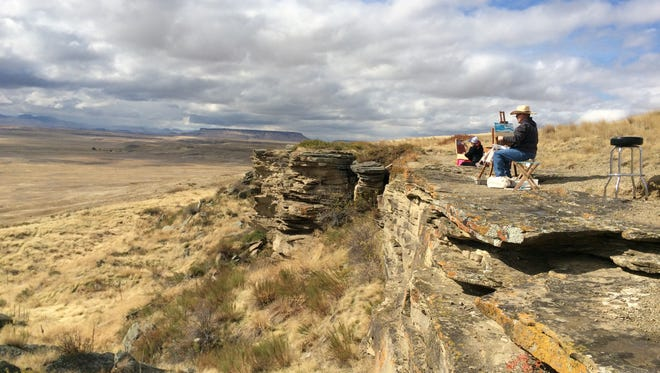 First Peoples Buffalo Jump State Park provides an inspirational vista for Sunday Painter participants. The newly constituted state parks board met for the first time at the state park southwest of Great Falls on Tuesday.